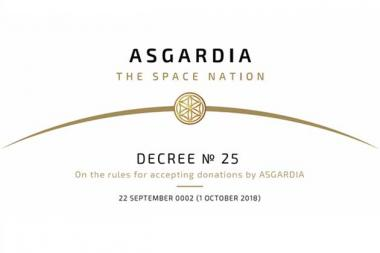 Decree No 25 On the rules for accepting donations by Asgardia