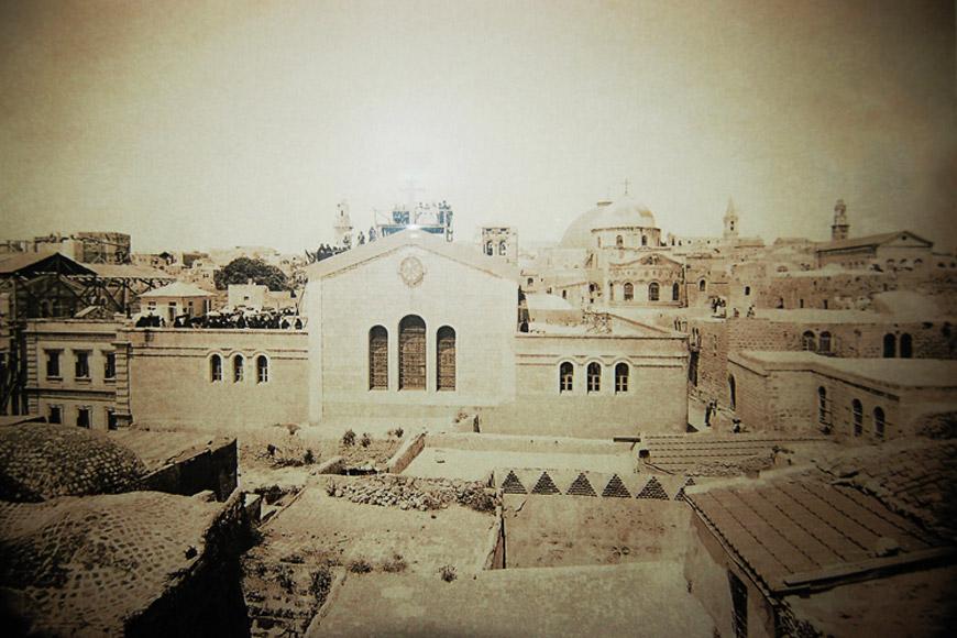 Общий вид на Александровское подворье 1896 г. Фото монаха Иосифа, wikimedia.org