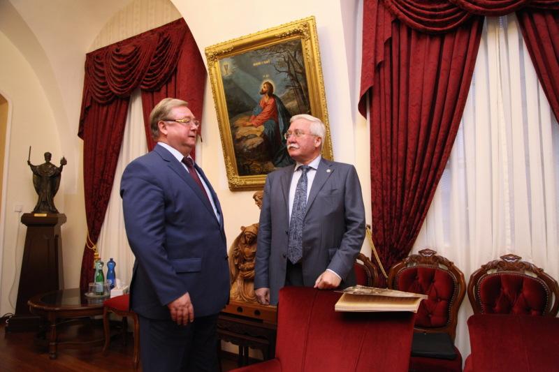 Сергей Степашин и Игорь Ашурбейли на приёме по случаю получения ИППО официального статуса в Израиле