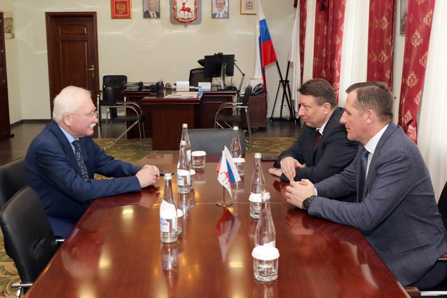 Встреча Игоря Ашурбейли с Дмитрием Сивохиным, исполняющим полномочия Главы города Нижний Новгород