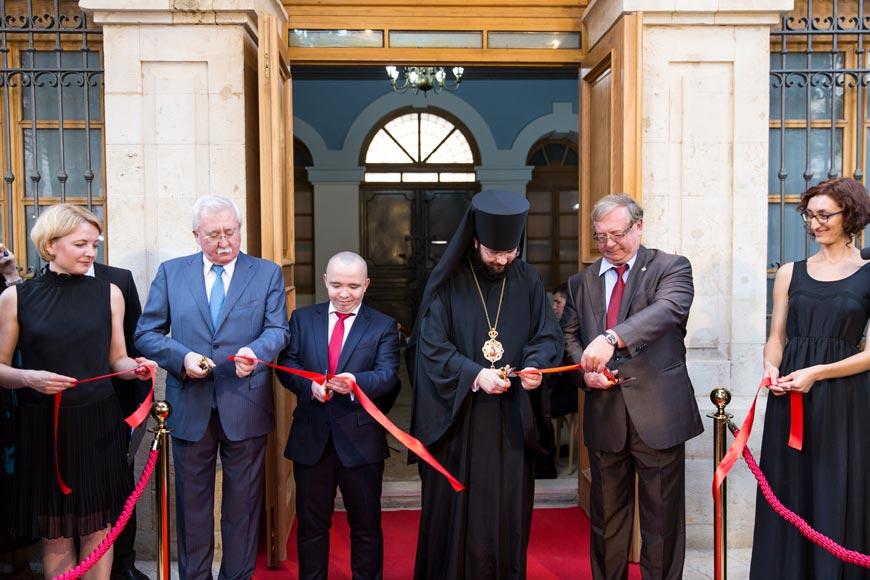 Церемония открытия Сергиевского подворья