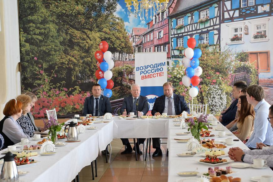 Игорь Ашурбейли и Станислав Пугинский на встрече с общественностью города Арзамаса